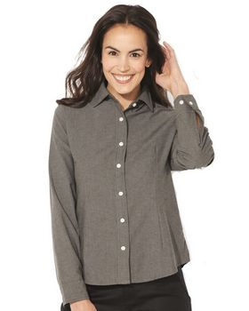 Featherlite 5233 Womens Long Sleeve Stain Resistant Oxford Shirt