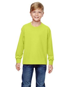 Fruit of the Loom 4930B Youth 100% Cotton Long Sleeve T-Shirt