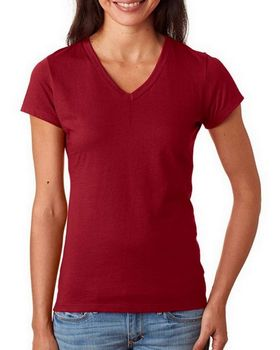 Fruit Of The Loom SFJV Ladies Sofspun Junior Fit V-Neck T-Shirt