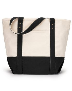 Gemline 1211 Seaside Zippered Cotton Tote