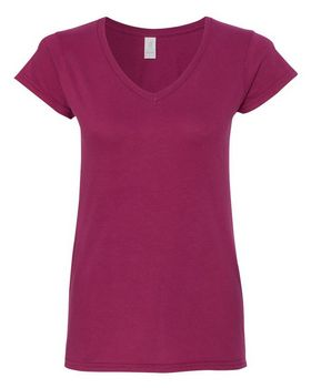 Gildan 64V00L GD Ladies V Neck Tee