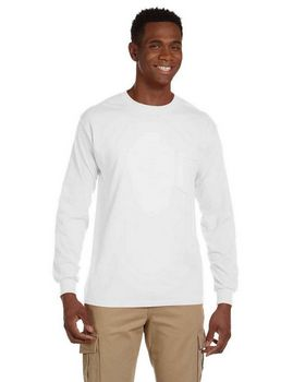 Gildan G241 Ultra Cotton Long Sleeve Pocket T-Shirt