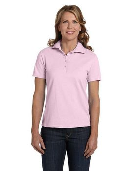 Hanes 035 Ladies Cotton Pique Polo