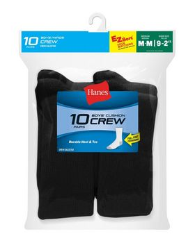 a6757b49fda5 Hanes 421 Ez-Sort Boys Crew Socks 11-Pack ...