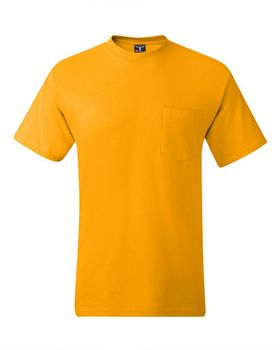 Hanes 5190 100% Cotton Pocket Tee