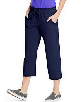 Hanes O4679 Womens French Terry Pocket Capri