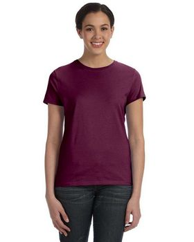 Hanes SL04 Silver For Her Classic Fit Ringspun T-Shirt