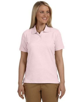 Harriton M100W Ladies Cotton Pique S-Sleeve Polo
