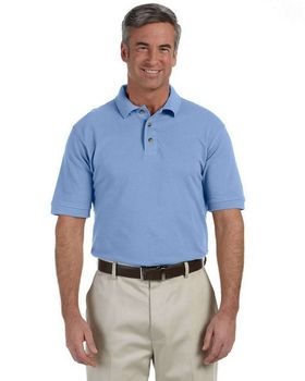 Harriton M200 Men's Ringspun Cotton Pique Short-Sleeve Polo