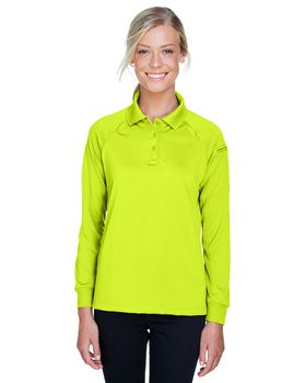 Harriton M211LW Ladies Tactical Long-Sleeve Performance Polo