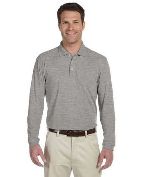 Harriton M265L Mens Easy Blend Long-Sleeve Polo