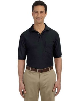 Harriton M265P Mens Easy Blend Polo with Pocket