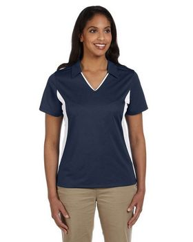 Harriton M355W Women's Side Blocked Micro Pique Polo