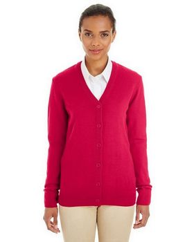 Harriton M425W Ladies Pilbloc Cardigan Sweater