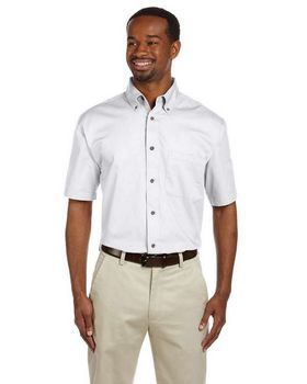 Harriton M500S Men's Easy Blend Short-Sleeve Twill Shirt