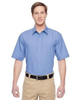 Harriton M545 Mens Advantage Snap Closure Short-Sleeve Shirt
