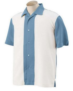 Harriton M575 Mens Two-Tone Bahama Cord Camp Shirt