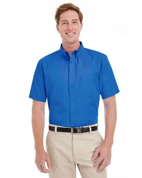 Harriton M582 Mens Short-Sleeve Twill Shirt