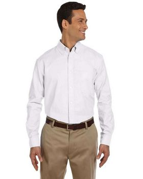Harriton M600 Mens L-Sleeve Oxford