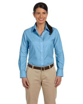 Harriton M600W Ladies L-Sleeve Oxford
