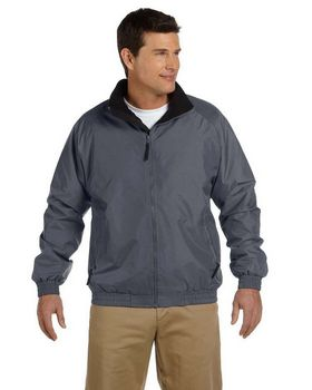 Harriton M740 Fleece Lined Nylon Jacket - Shop at ApparelnBags.com