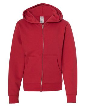 Independent Trading Co. SS4001YZ Youth Midweight Hooded Full-Zip Sweatshirt