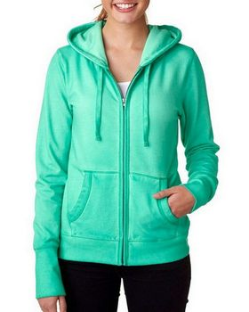 J America J8665 Women's J.America Oasis Wash Full-Zip Hooded Fleece