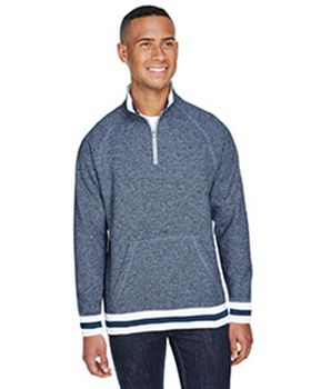 J America JA8703 Adult Peppered Fleece Quarter-Zip