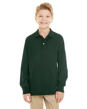 Jerzees 437YL Youth 5.6 oz. 50/50 L-Sleeve Jersey Polo with SpotShield