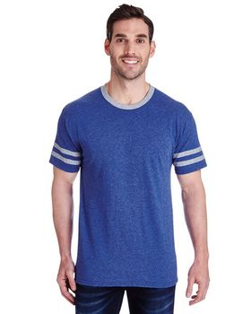 Jerzees 602MR Mens Tri-Blend Varsity Ringer T-Shirt