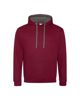 Just Hoods By Awdis JHA003 Men Varsity Contrast Hooded Sweatshirt