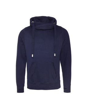 Just Hoods By Awdis JHA021 Mens Cross Over Neck Hooded Sweatshirt