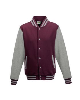 Just Hoods By Awdis JHA043 Mens 80/20 Heavyweight Letterman Jacket