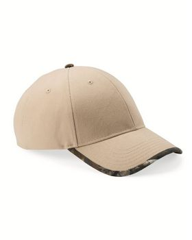 Kati LC26 Solid Cap with Camouflage Bill - Shop at ApparelnBags.com