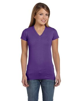 LAT L3607 Junior Jersey V-Neck Tee
