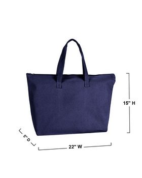 Liberty Bags 8863 Zipper Canvas Tote