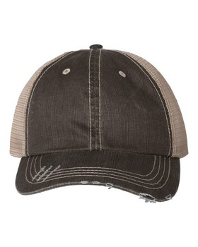 Mega Cap 6990 Cotton Twill Trucker Cap