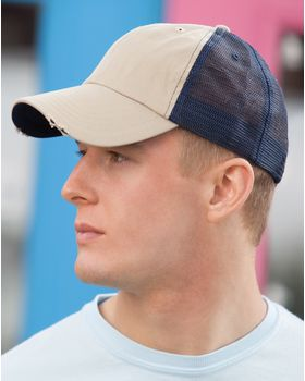 Megacap 6887 Washed Cotton Mesh Cap
