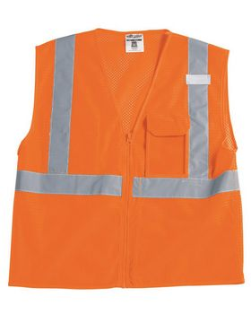 Ml Kishigo 1532-1533 Clear ID Vest with Zipper Closure