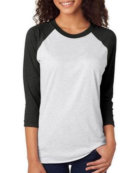Next Level 6051 Unisex Tri-Blend Raglan T-Shirt