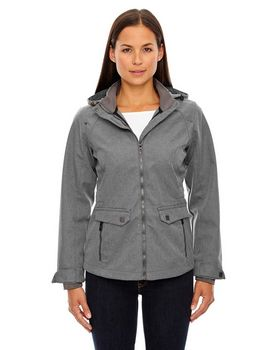 North End 78672 Ladies Textured Soft Shell Jacket