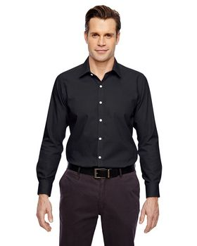 North End 88690 Precise Mens Cotton Dobby Taped Shirt