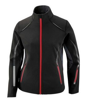 North End 78678 Ladies' Pursuit Three-Layer Light Bonded Hybrid Soft Shell Jacket