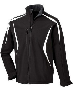 North End 88650 Mens Colorblocked Fleece Bonded Soft Shell Jacket