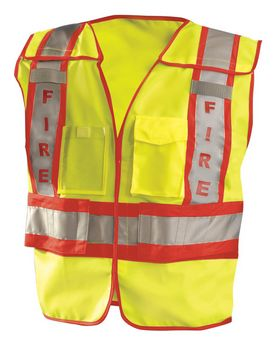 Occunomix LUXPSF Mens Premium Solid Public Safety Fire Vest