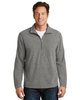 Port Authority F234 Heather Microfleece 1/2-Zip Pullover
