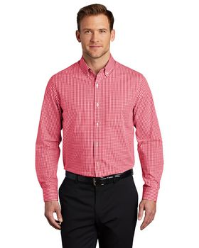 Port Authority W644 Broadcloth Gingham Easy Care Shirt