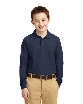 Port Authority Y500LS Youth Long Sleeve Silk Touch Polo