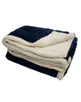 Pro Towels CORD 50x60 Corduroy Lambswool Throw Blanket