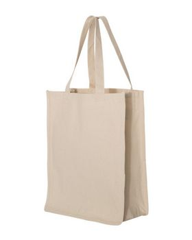 Q-Tees Q125400 27.3L Gusseted Jumbo Canvas Shopper